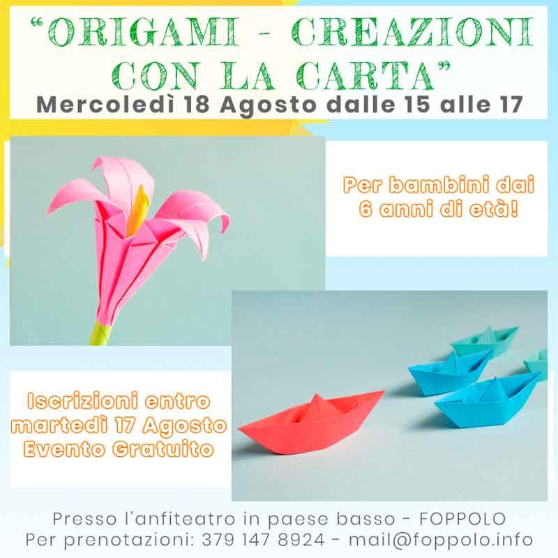 origami a foppolo evento